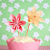12 Flower Cupcake Toppers ' Belle Celebration '