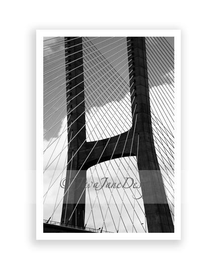 Letter H - Alphabet Photography Individual 4x6 Black and White Photo for Name