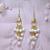 White Waterfall Earrings
