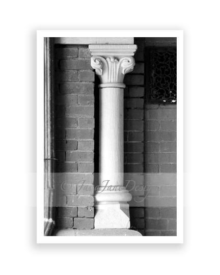 Letter I - Alphabet Photography Individual 4x6 Black and White Photo for Name