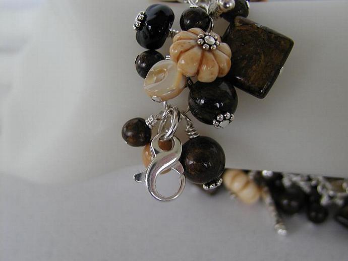 Handcrafted Bronzite Bracelet