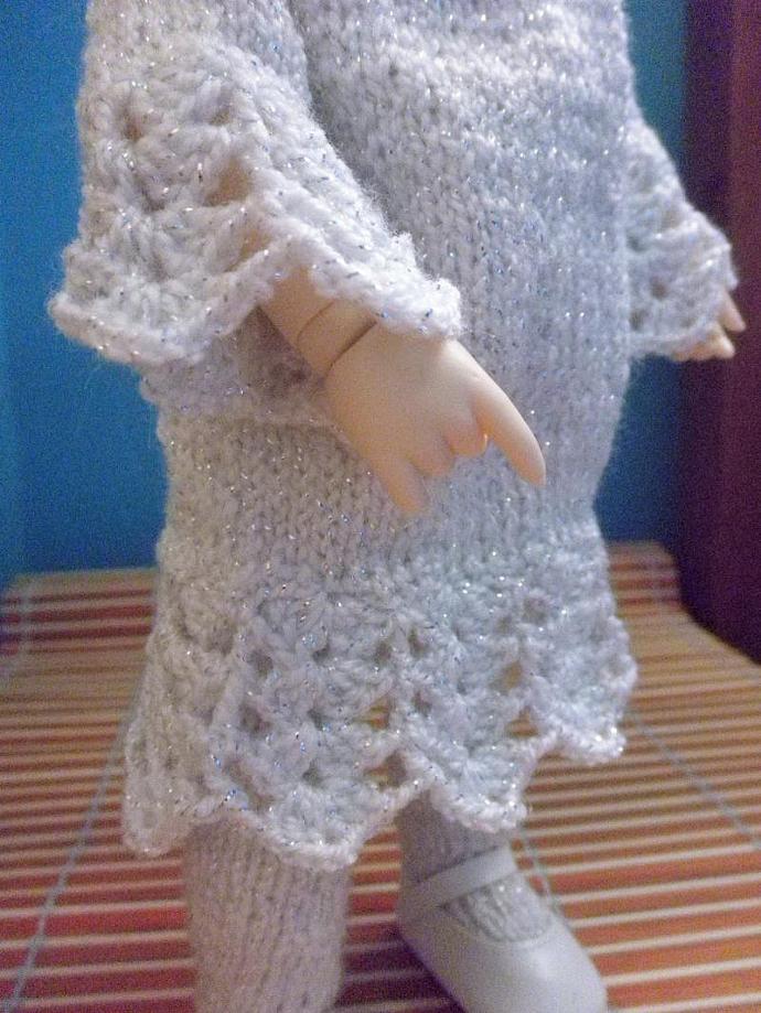 Snowflake dress yo, littlefee, lati green size