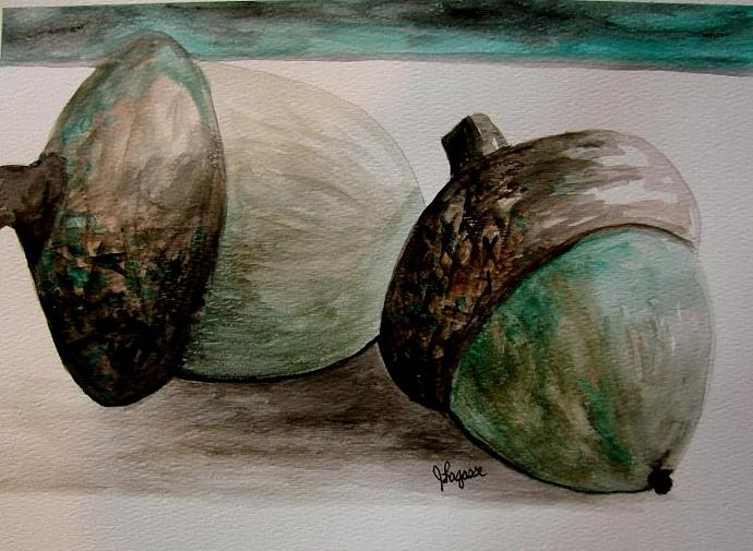 Oh Nuts - original watercolor painting