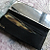 Folding Lipstick Case Vintage Cosmetic Accessory with Mirror and Comb