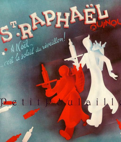 St Raphael Quinquina Aperitif 1934 Antique Paris Art Deco Advertising Lithograph