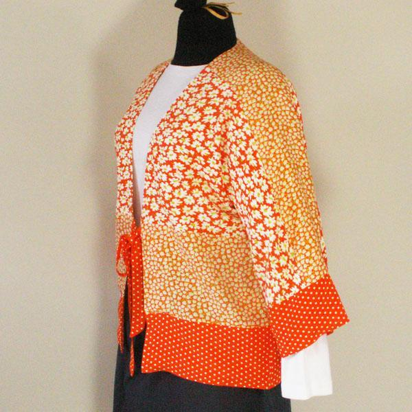Orange Kimono Style Jacket - Size S, M, L