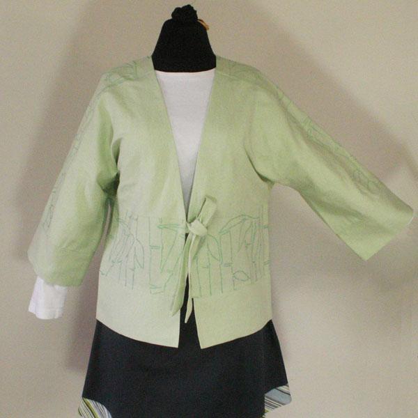 Light Green Kimono Style Jacket - Size Large