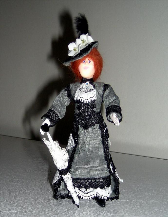 Emily, A One Inch Scale Victorian Lady