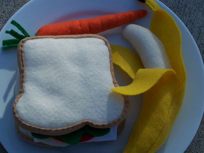 felt food turkey sandwich lunch set