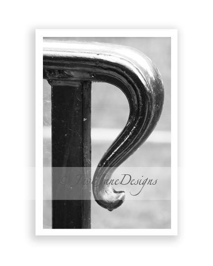 Letter R - Alphabet Photography Individual 4x6 Black and White Photo for Name