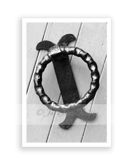 Letter Q - Alphabet Photography Individual 4x6 Black and White Photo for Name
