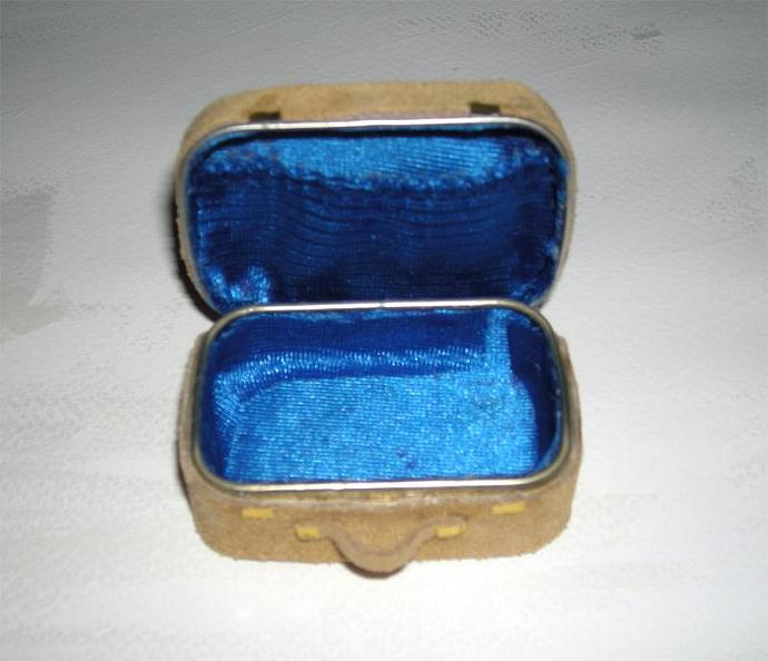 Leather Suitcase in One Inch Dollhouse Scale