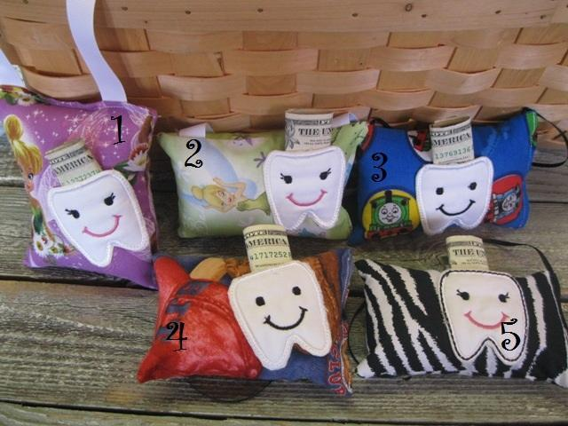 Your Choice of Tooth Fairy Pillows