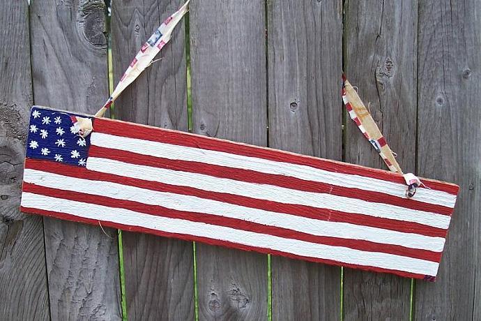 Primitive Flag Sign