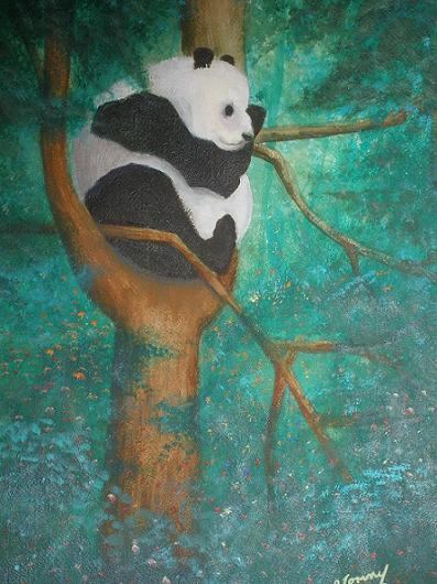 Panda by Tommy Silverstein OOAK original