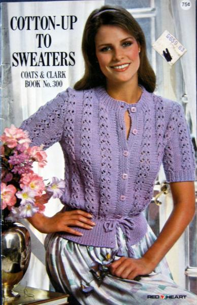 Cotton-Up To Sweaters Vintage Cochet and Knit Pattern Book