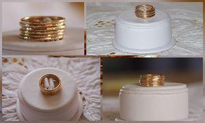 14K Gold Filled Stacking / Stackable Rings - wedding bands - Set of SIX, sizes