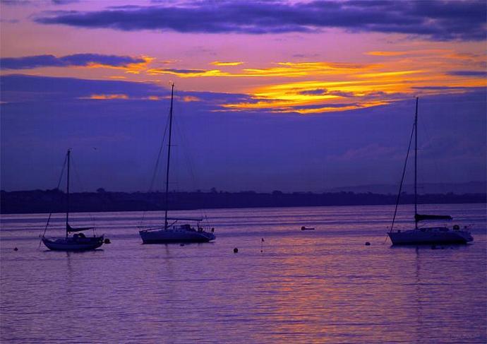 Sunset in Skerries Harbor- fine art print