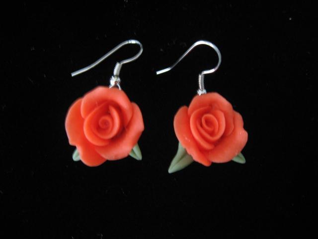 Orange Cold Porcelain Earrings