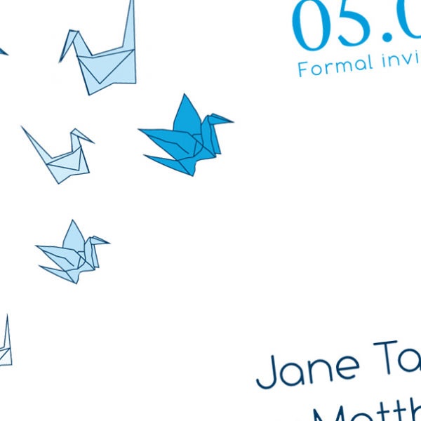 Crane Origami Save The Date 104a By Nowannouncing On Zibbet