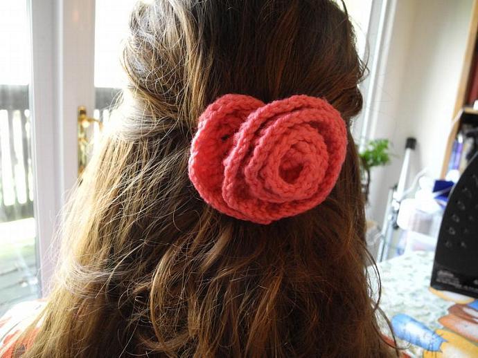 Pretty Pink Rosette Barrette