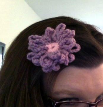Purple Daisy Hair Clip