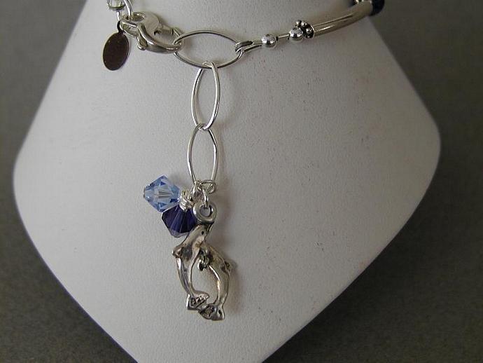 Crystal Blues Handcrafted Bracelet