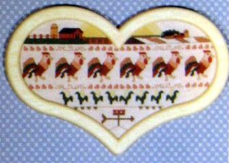Country Parade Vintage Cross Stitch Embroidery Pattern Book