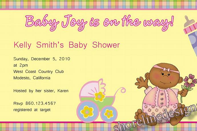 Baby shower invitation african american by shorelinedesignz on zibbet baby shower invitation african american baby girl high resolution digital file m4hsunfo