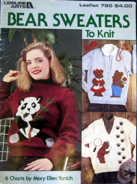 Bear Sweaters to Knit Vintage Pattern Book