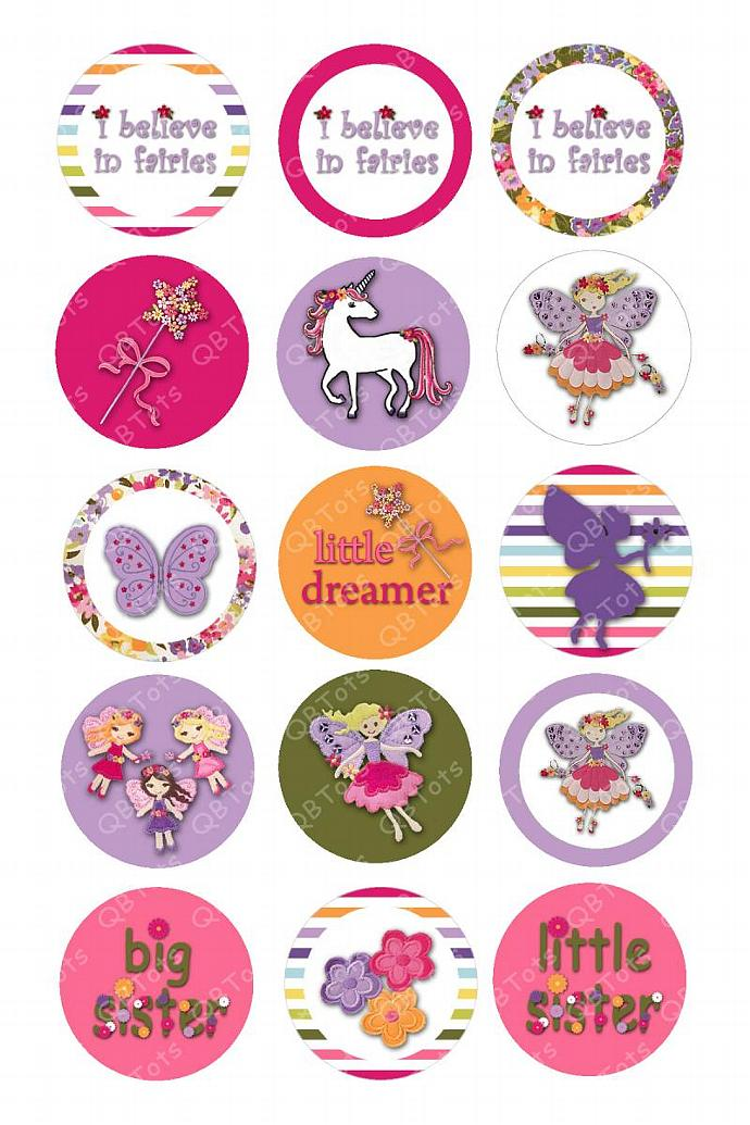 M2MG Fairy Fashionable Digital Image Collage 1 inch Circles