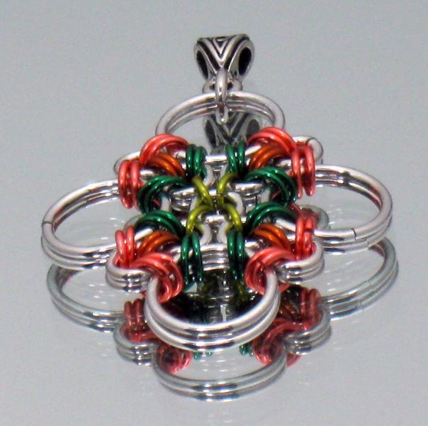 Peach Orchard Chainmaille Pendant