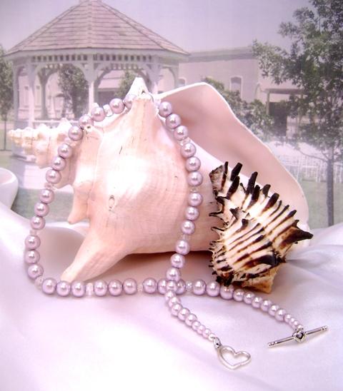 Wisteria Mist & Crystal Single-Strand Necklace