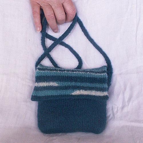 """""""Striscia"""" Felted Shoulder Bag"""
