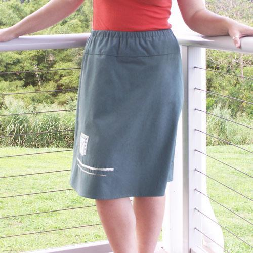 Fern Leaf A-Line Skirt, Sizes S, M