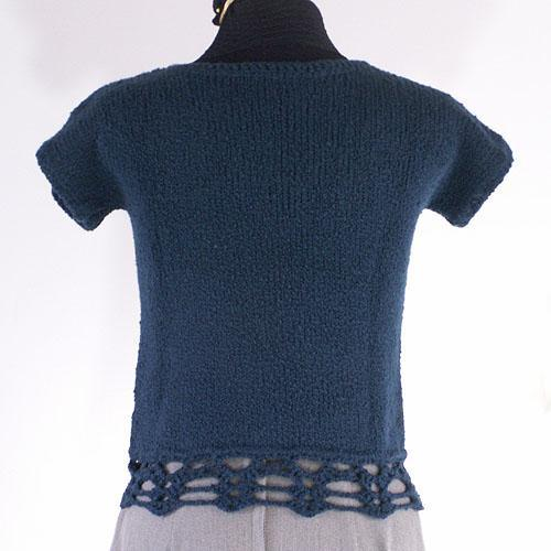 Teal Cotton T-Shirt Sweater - Size Small