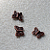 Copper Butterflies- antiqued charms-beads