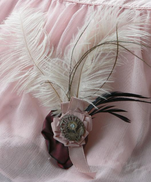 Ostrich Feather Fascinator Small