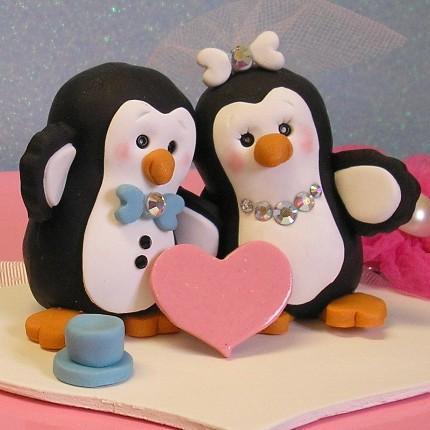 Cute Penguin Wedding Cake Topper | Buttonwilloe