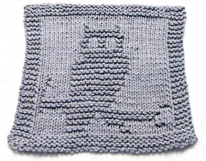Knitting Cloth Pattern -  OWL - PDF