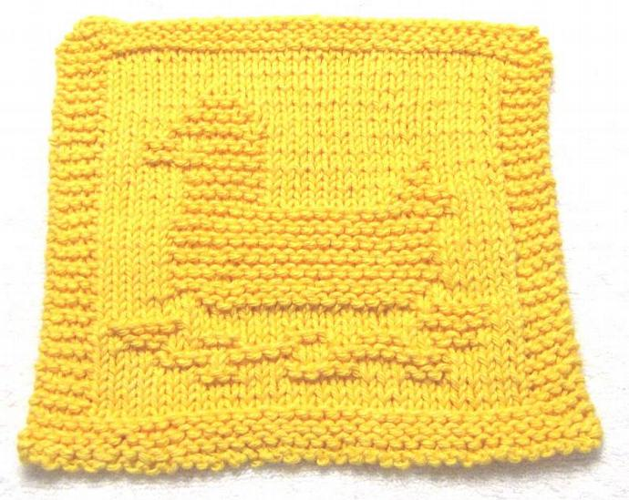 Knitting Cloth Pattern -  RUBBER DUCK- PDF