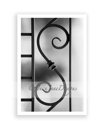 Letter S - Alphabet Photography Individual 4x6 Black and White Photo for Name