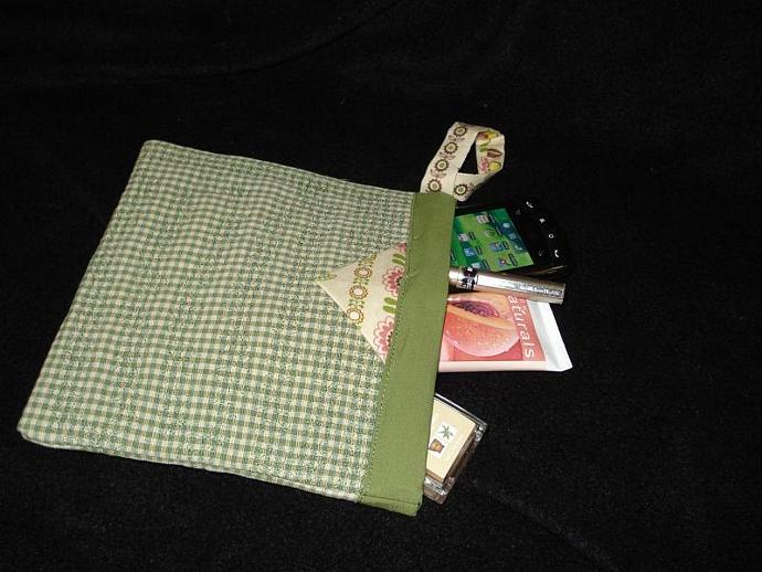 Upcycle  Fabric Snap Happy Bag