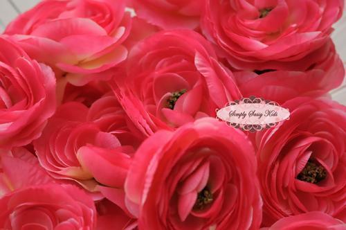PINK 3.5in Ranunculus Silk Flowers