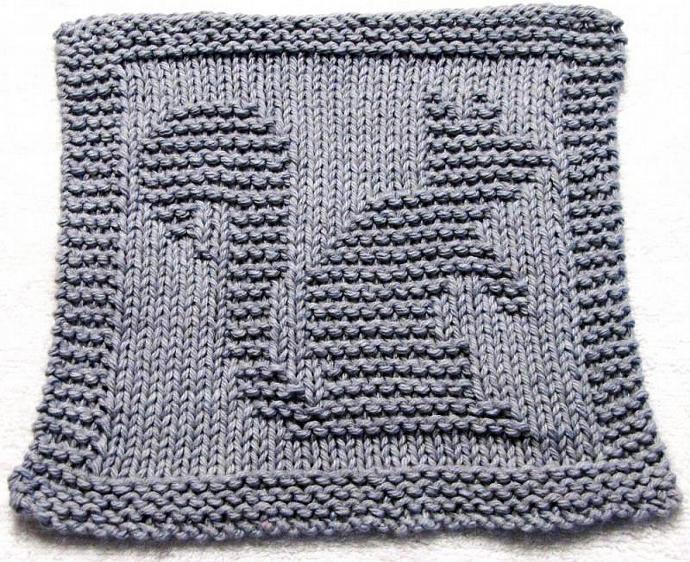 Knitting Cloth Pattern  - SQUIRREL- PDF