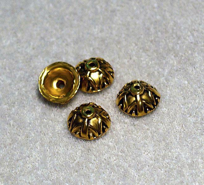 Antiqued Gold Bead Caps