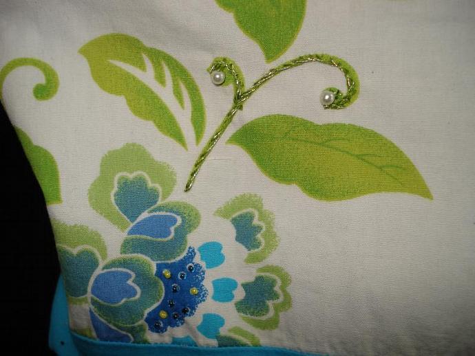 Repurposed Floral Handbag
