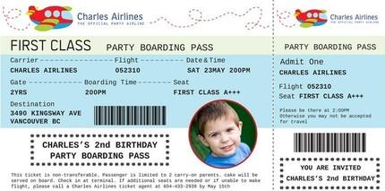 Airplane boarding pass custom birthday by designdream on zibbet airplane boarding pass custom birthday invitation filmwisefo
