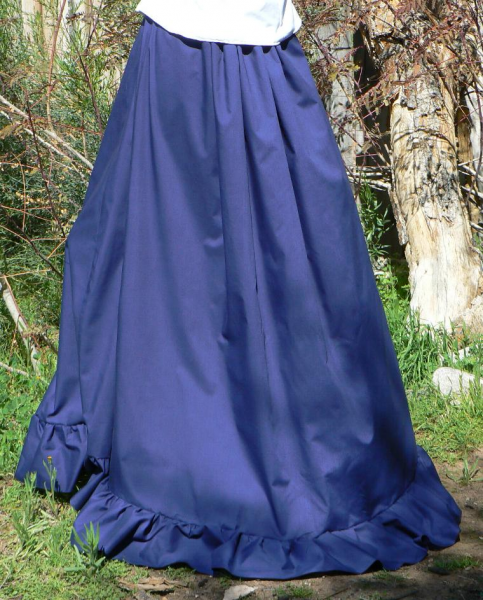 Drawstring Cotton Bustle Skirt