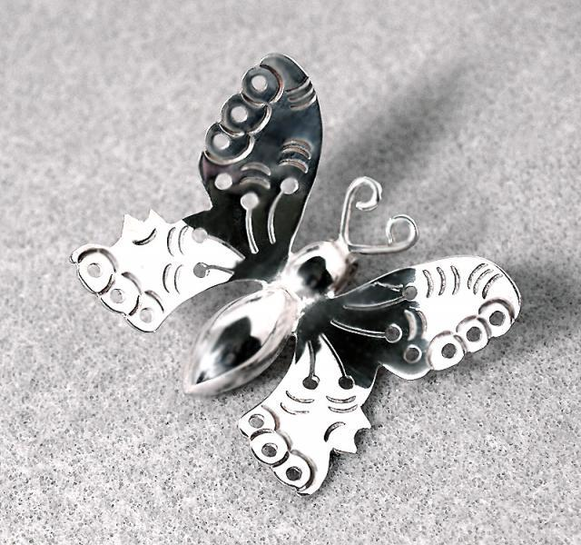 Butterfly Hill Tribes Fine Silver Pendant